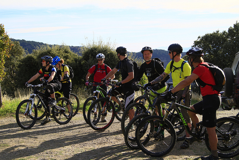 Mountain biking group trip