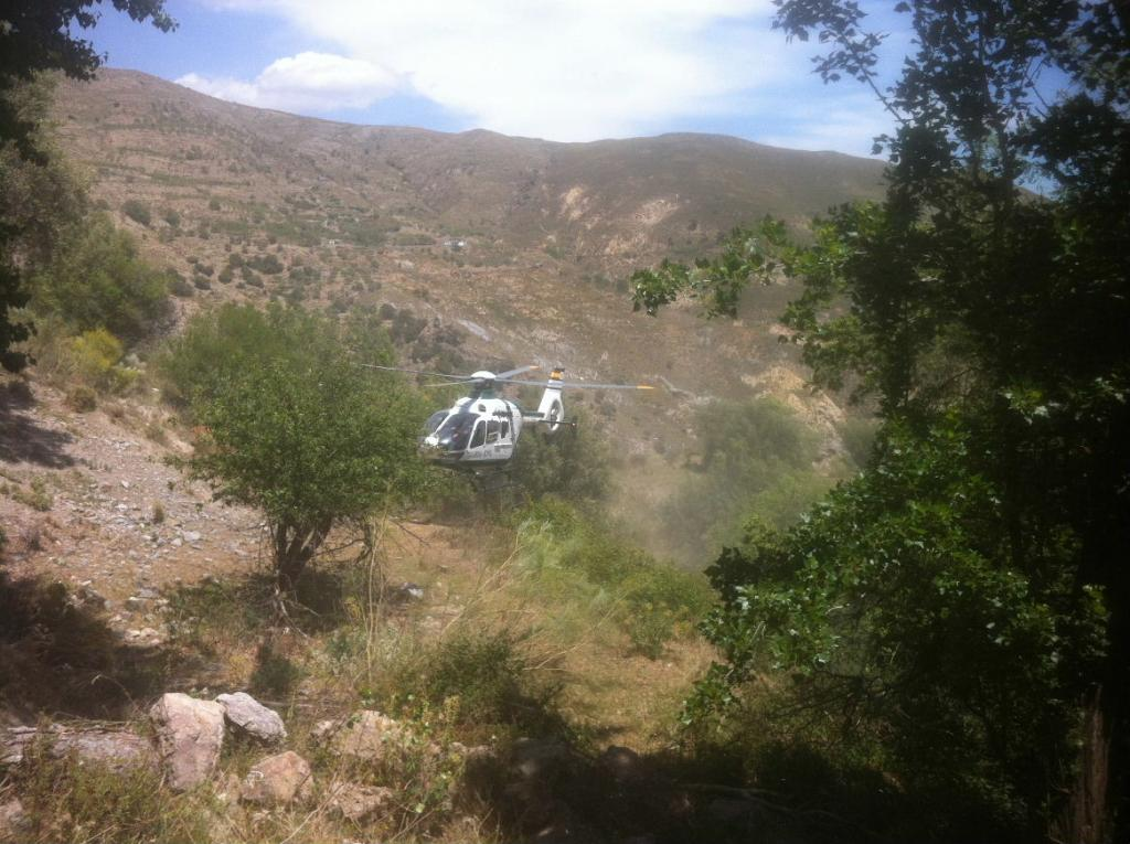 Helicopter MTB rescue