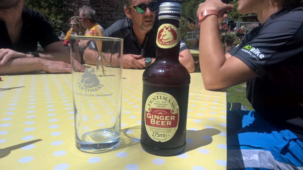 Ginger beer in a tea garden