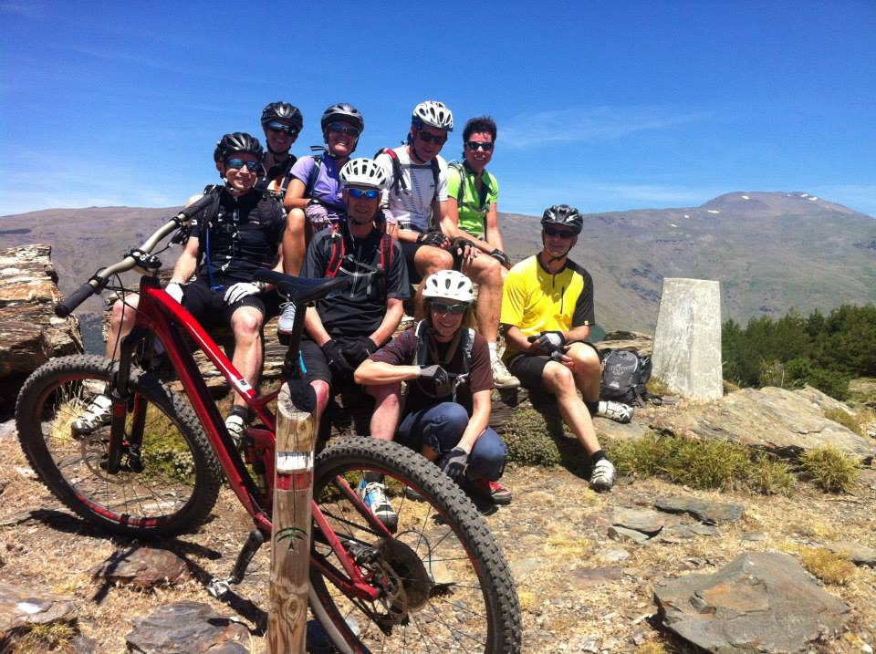 Summer mountain biking