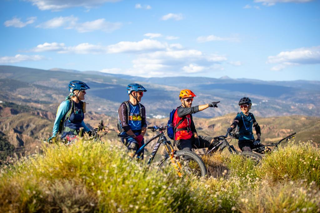 Mountain biking with friends