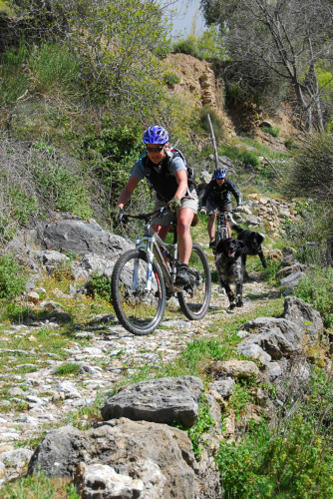 Riding singletrack in Spain