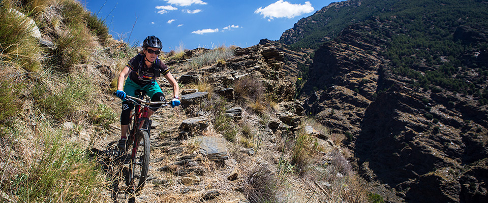 Singletrack descents: photo Chris Davies