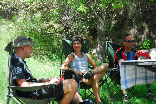 Picnic lunch on the trail