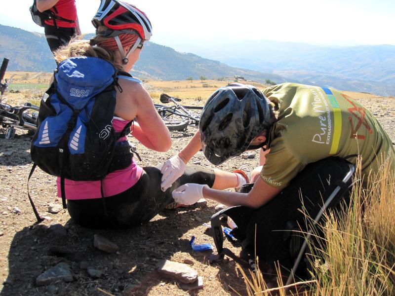 Trail-side first aid