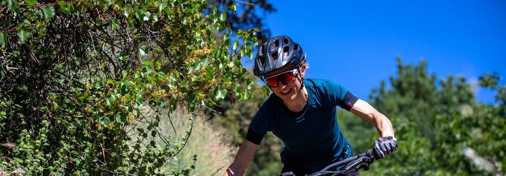 Woman mountain biker