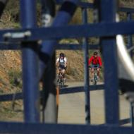 View through the bike trailer