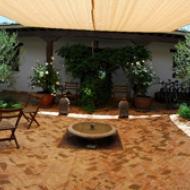 The enclosed farmhouse courtyard